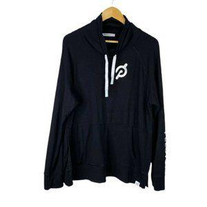 Peloton Womens Black Long Sleeves Funnel Cowl Neck Pullover Sweatshirt Size XXL